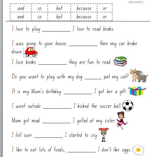 Grammar Worksheets Conjunctions  3