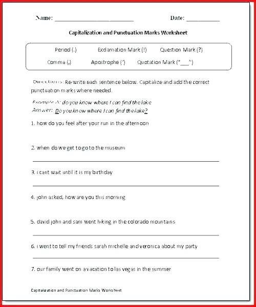 Capitalization Worksheets 4th Grade – Karyaqq Club