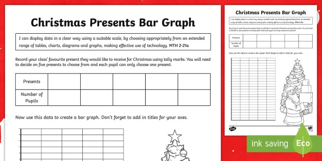 Cfe Second Level Christmas Presents Bar Graph Worksheet   Worksheet