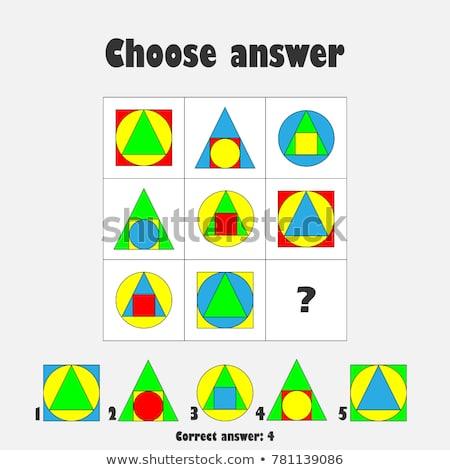Choose Correct Answer Iq Test Colorful Stock Vector (royalty Free