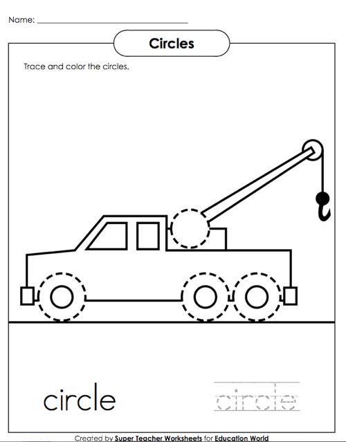 Super Teacher Circles Worksheet