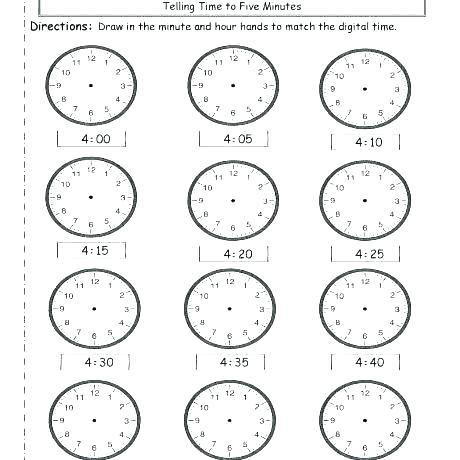 Clocks Printable Time Worksheets Clock Images Worksheets