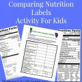 Printable Nutrition Worksheets