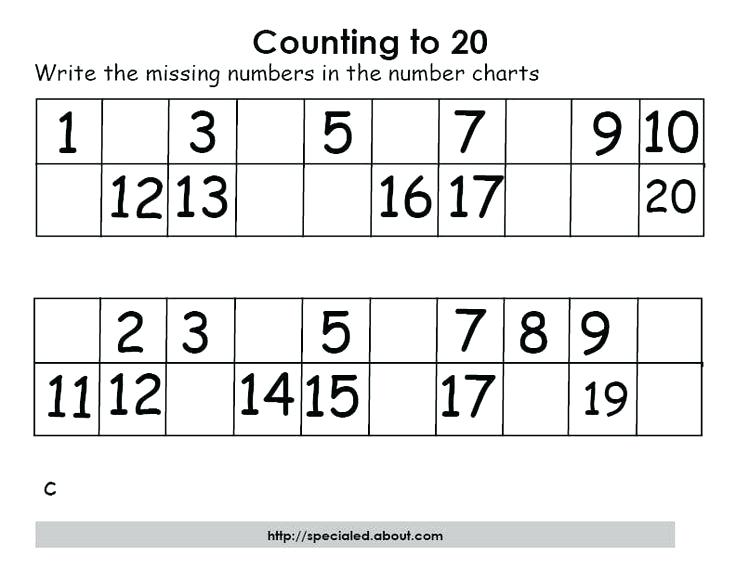 Kindergarten Numbers Printable Worksheets Math Maze Free Counting