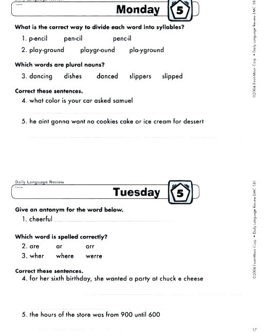 Language Worksheets 5th Grade – Butterbeebetty Com