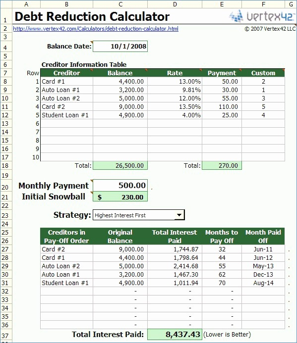 Debt To Income Spreadsheet – Theomega Ca