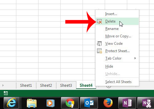 How To Delete A Worksheet Tab In Excel 2013