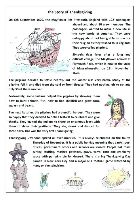 Esl Thanksgiving Worksheets Thanksgiving Worksheets Esl Canadian