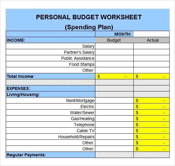 Sample Expense Sheet