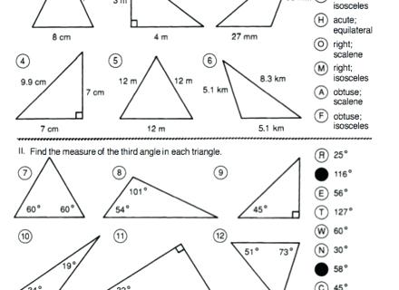 Find Missing Angles Worksheet Find The Missing Angle Of A Triangle