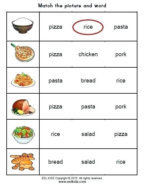 Food Worksheets For Kindergarten Activities Games And Kids