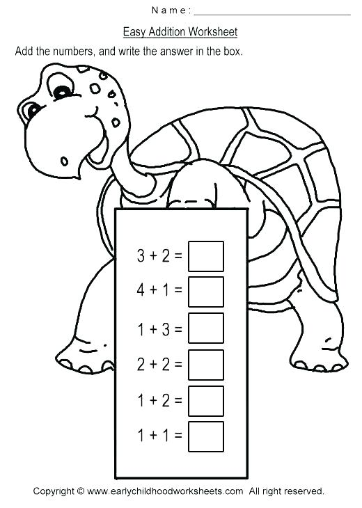 Basic Addition Worksheets For Kindergarten Common Core Printable