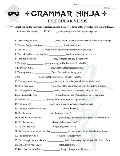 Free Grammar Worksheets Grade Yahoo Free Grammar Worksheets Grade