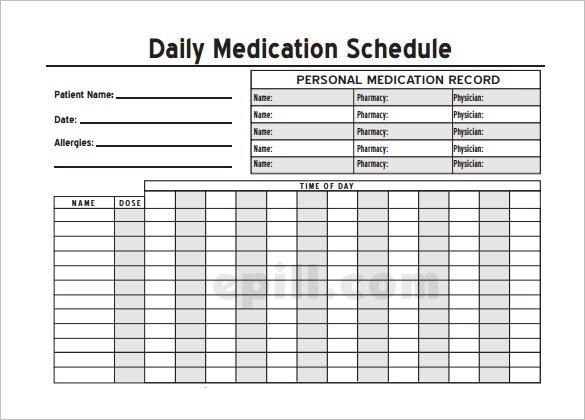 Drug Sheet Template