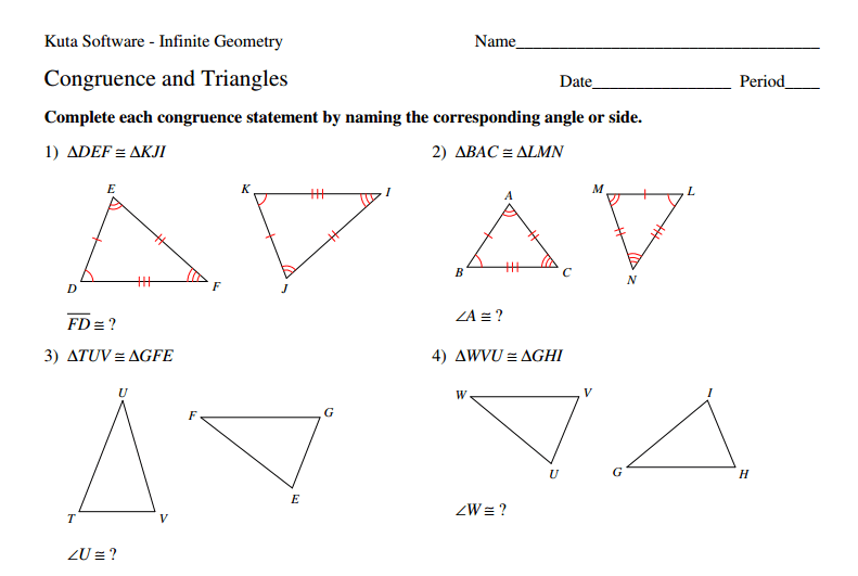 32 Congruent Figures Worksheet Grade 7, 8 G 2 Describing A