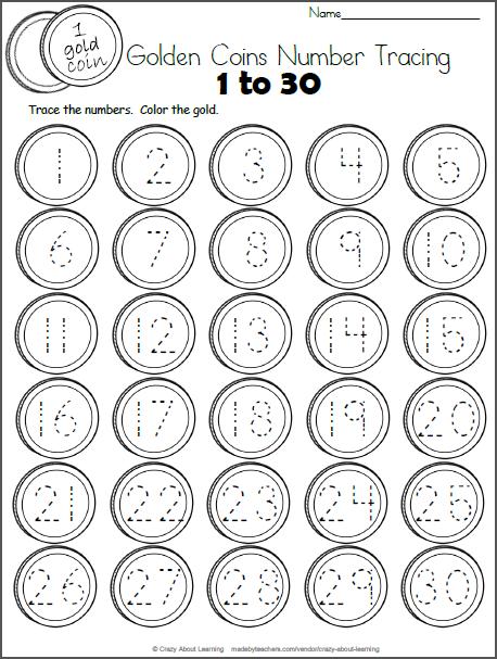 Free Number Tracing Worksheet