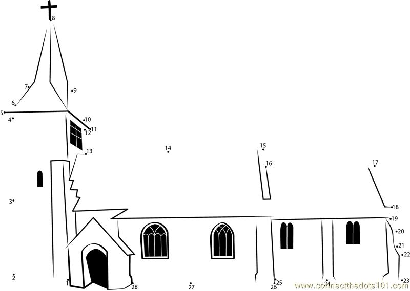 Gospel And The Church Dot To Dot Printable Worksheet