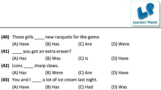 English Grammar Worksheets For Use Of Has