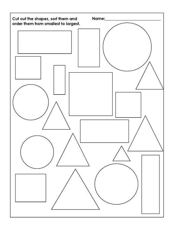 Grade R Worksheets Printable Free Shape » Printable Coloring Pages