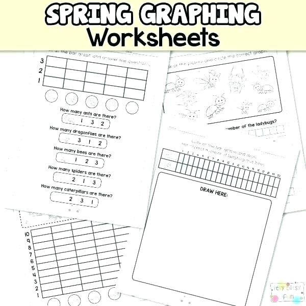 Graphing Worksheets Grade Spring Graphing Worksheets B Fun Reading