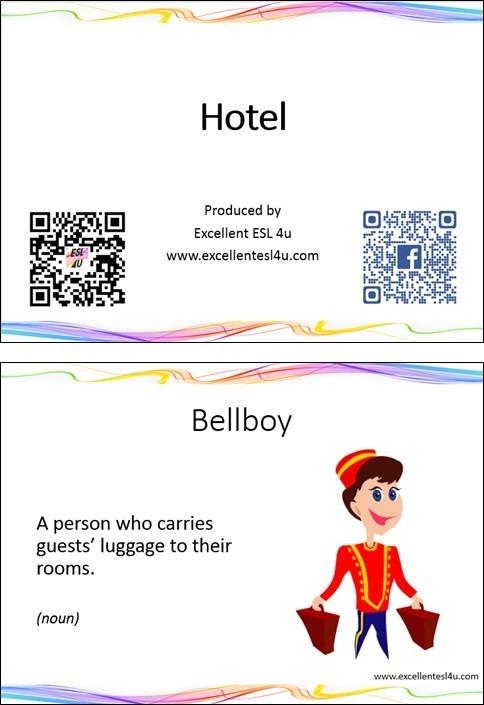 Esl Hotel Vocabulary
