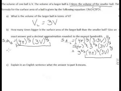 Rational Exponent Word Problem