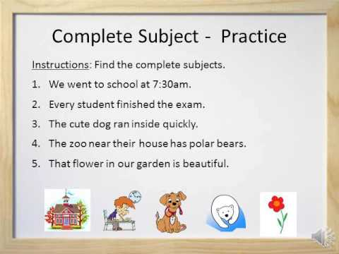 Simple Subjects And Complete Subjects