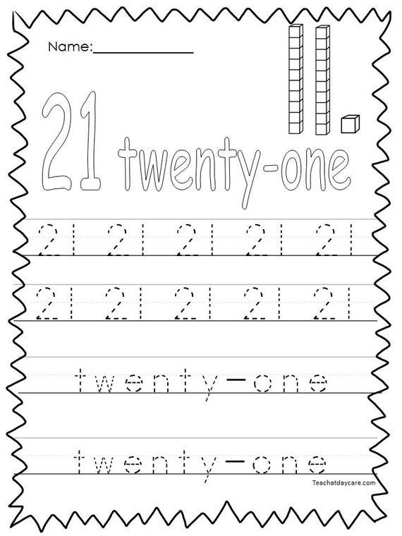 10 Printable Numbers 21