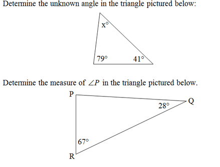 Triangle Interior Angles Worksheet(pdf) And Answer Key  Scaffolded
