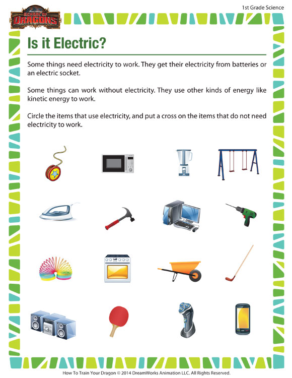 Free Electricity  Free Electricity Worksheets