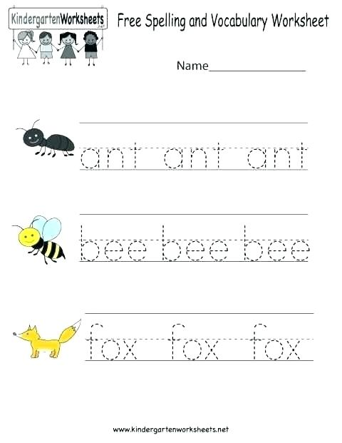 Kindergarten Spelling Worksheets Free Printables Free Printable