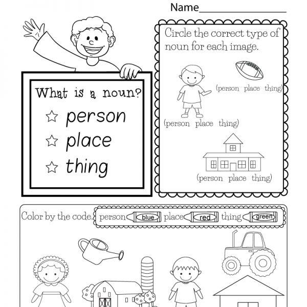 Kindergarten Worksheets Pdf English