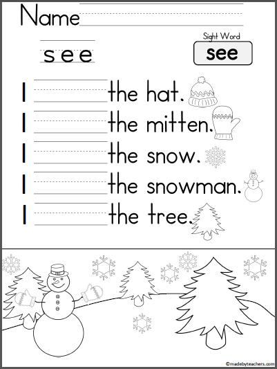Kindergarten Writing Practice