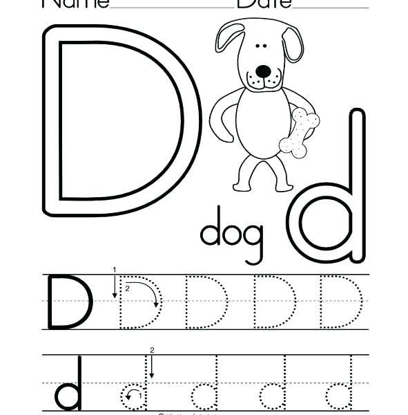 Letter D Tracing Worksheets Colouring Letter Tracing Worksheets