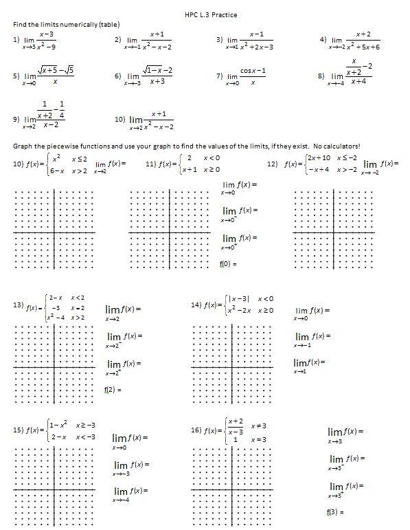 Homework Piecewise Functions Worksheet 1 8 Answers