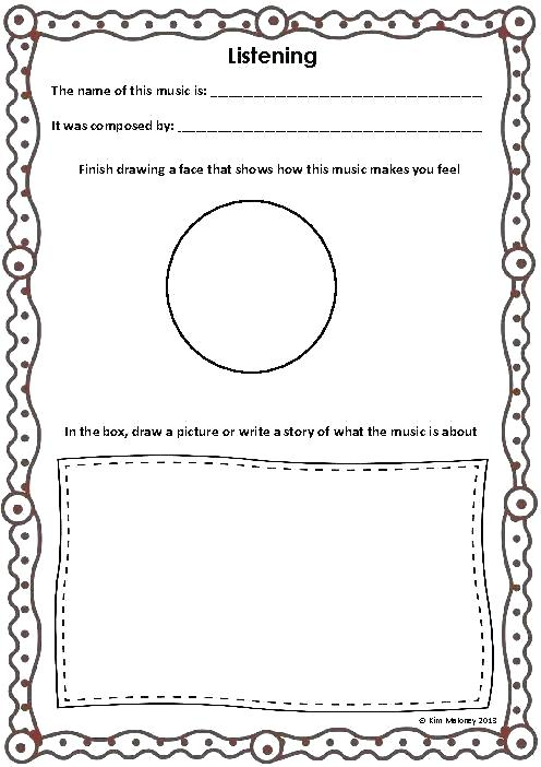Listening Skills Worksheets Following Directions Coloring