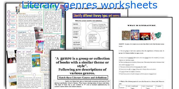 Literary Genres Worksheets