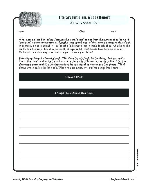 Literary Genres Worksheets Literature High School Symbolism In For