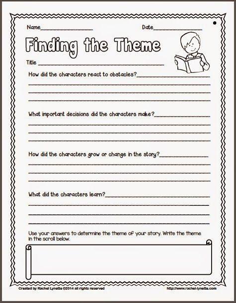 Main Idea And Theme Worksheets Worksheets Identifying Theme