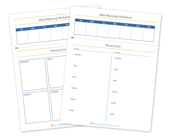 Get Organized With The Ultimate Meal Planning Worksheet
