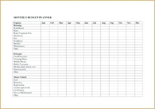 Monthly Living Expenses Worksheet Excel Spreadsheet Worksheet