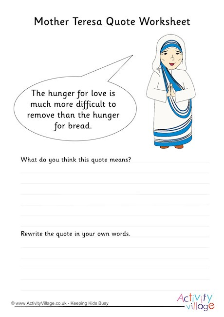 Learn About Mother Teresa
