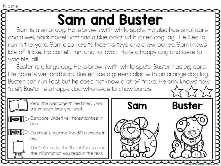 1st Grade Reading Worksheets Pdf