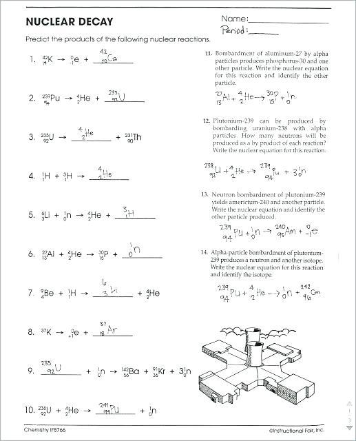 Balancing Chemical Equations Worksheet Predicting Products