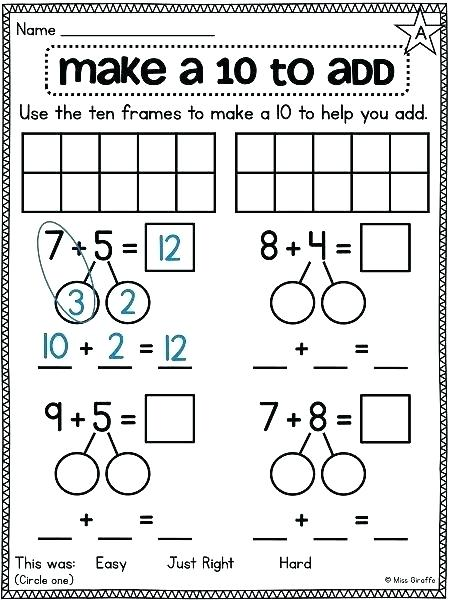 Number Bonds To Free Math Worksheets Adding 3 Numbers Make For 2nd