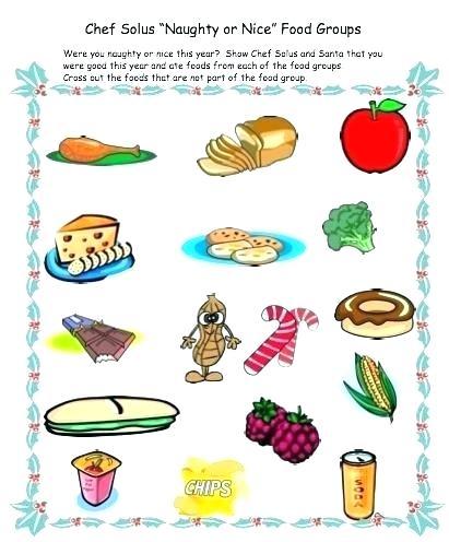 Nutrition Worksheets For Teachers Kindergarten Grade Science