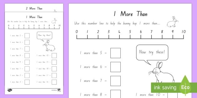 1 More And 2 More Worksheet   Worksheet