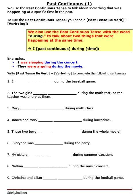 Esl Grammar  Introduction To Past Continuous Tense