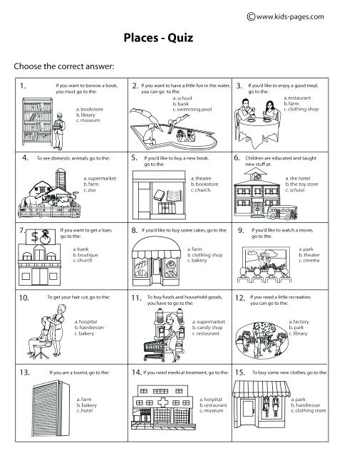 Places Community Worksheet Free Places Community Helper Worksheet