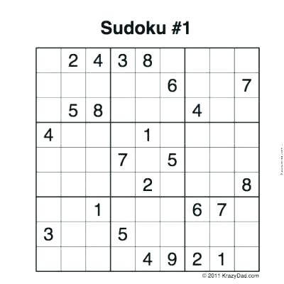 Sudoku Worksheets With Answers